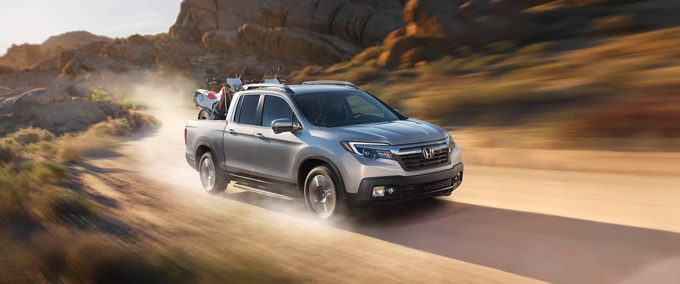 2019 Honda Ridgeline Off-Roading Through Dirt Road