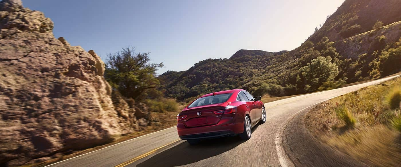 2019 Honda Insight Driving up Curved Road