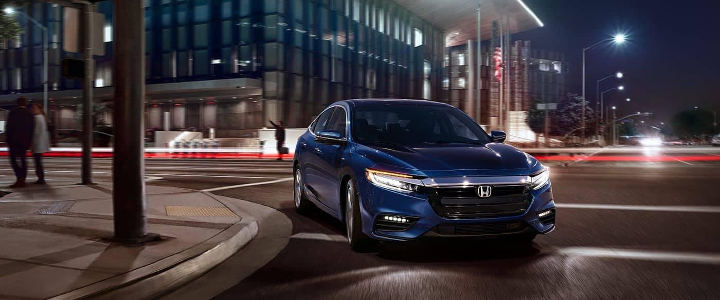 2019 Honda Insight Turning a Street Corner