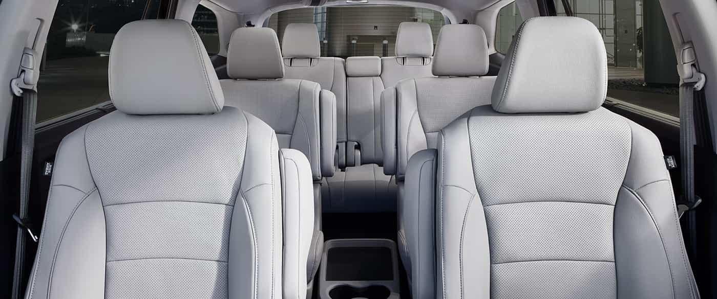 2019 Honda Pilot Interior Seating front to third row