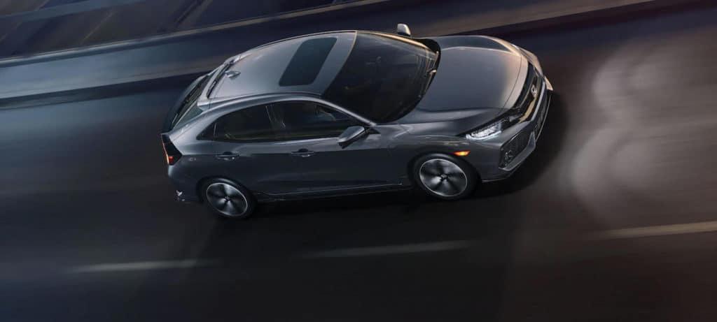 2019 Honda Civic Hatchback Exterior Side Angle Night Drive