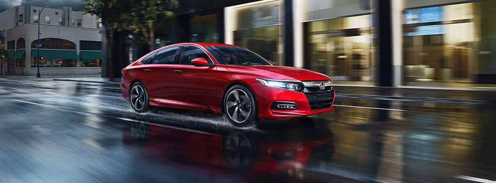 2019 Honda Accord Driving in the Rain