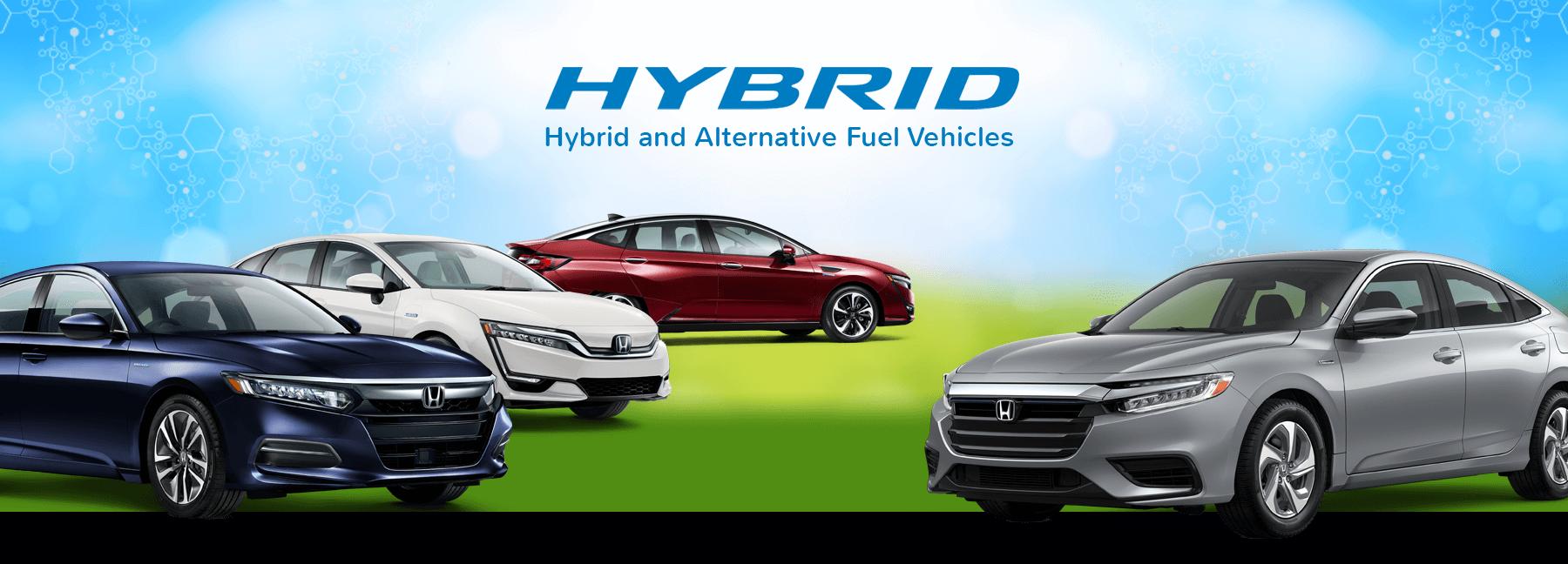 Honda Hybrid Cars and Alternative Fuel Vehicles Banner