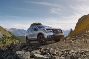 Honda Passport off road mountain driving