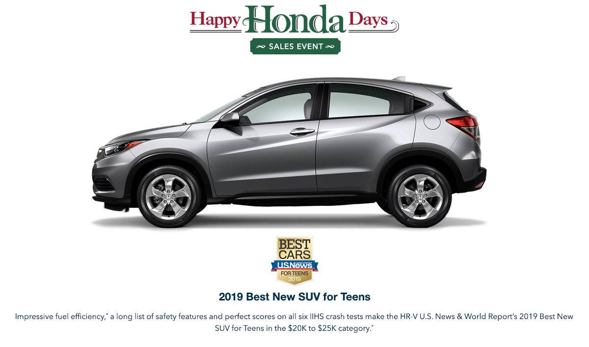 2019 Honda HR-V HHD Award Hero