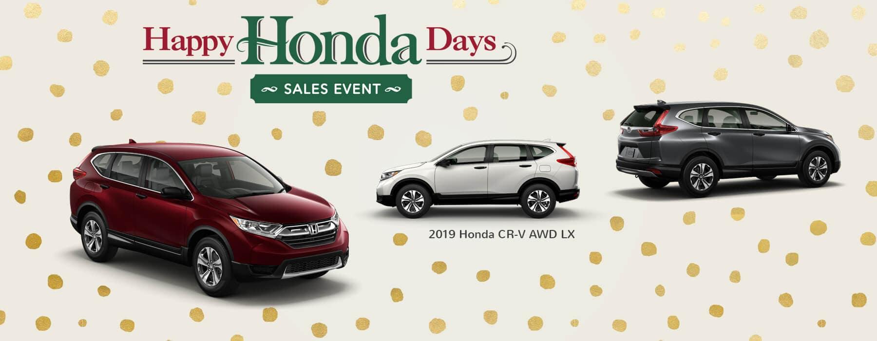 Happy Honda Days Sales Event 2019 Honda CR-V Slider