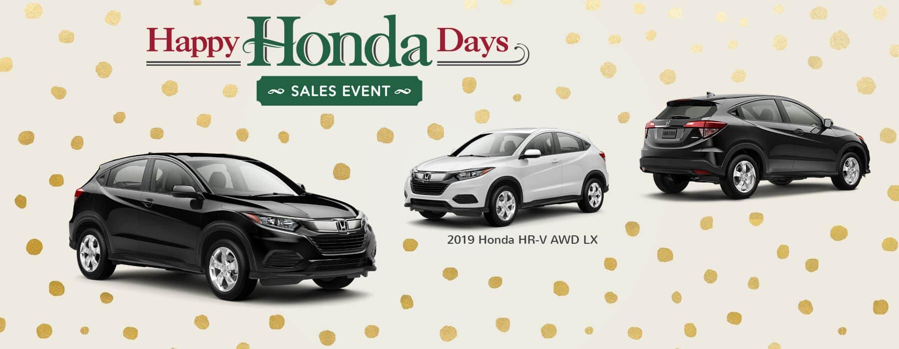 Happy Honda Days Sales Event 2019 Honda HR-V Slider