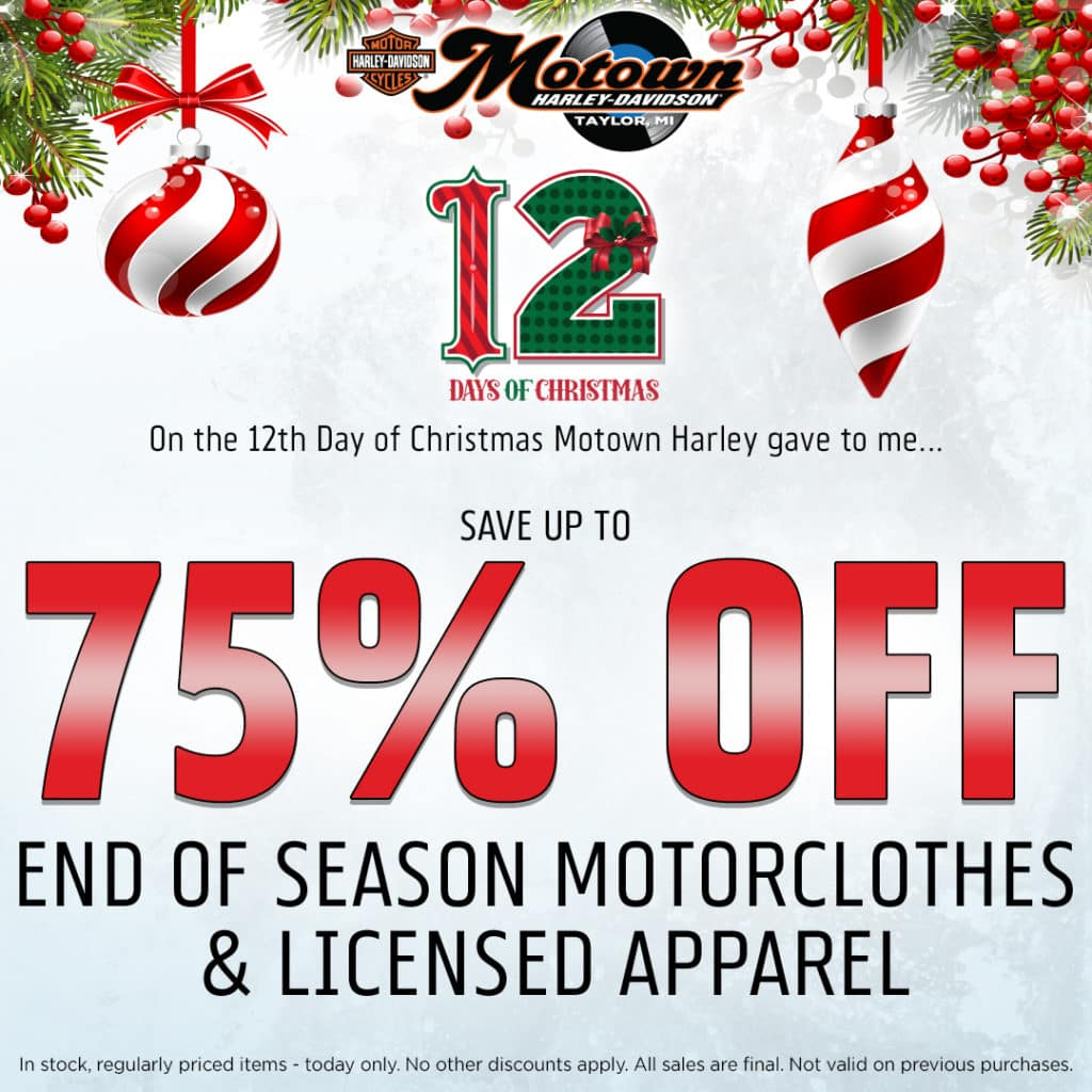 12 Days Of Christmas.12 Days Of Christmas Motown Harley Davidson