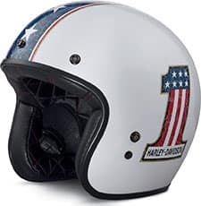 Harley No 1 American Flag 3 Quarter Helmet 98315-17VX