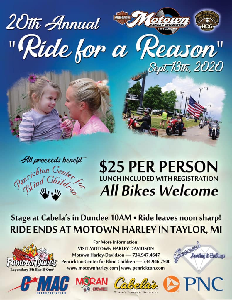 2020 Ride for a Reason Ride Flyer