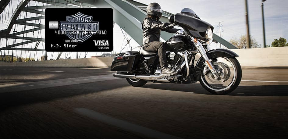 Get approved for a Harley Visa Card at Motown in Taylor