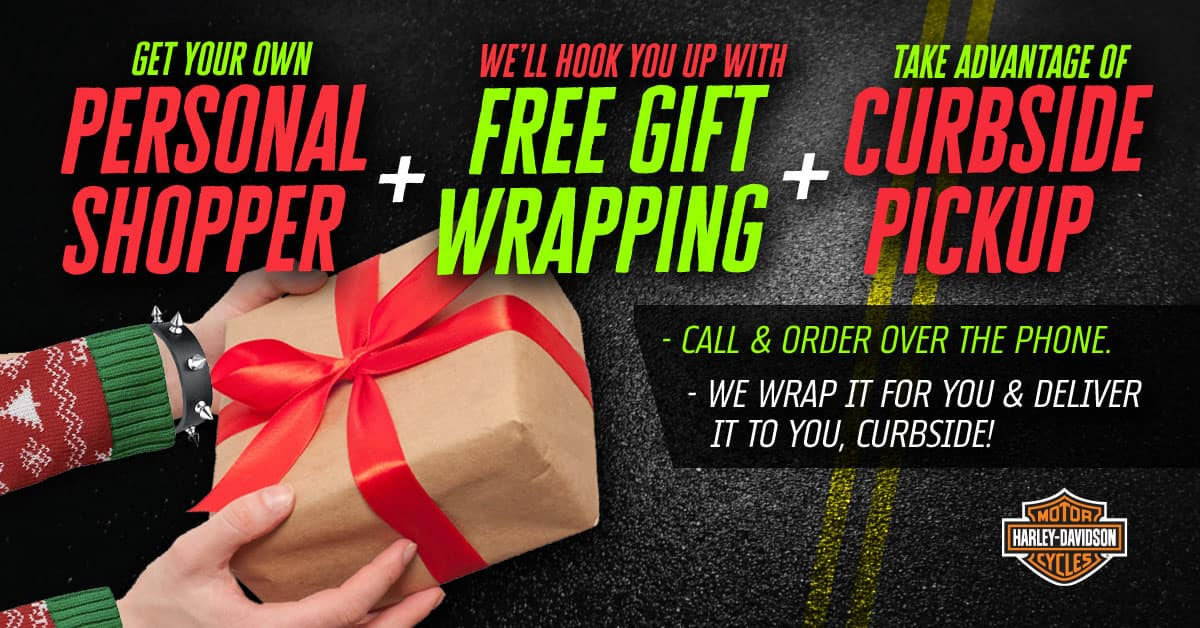 Free Gift Wrapping & Curbside Pickup