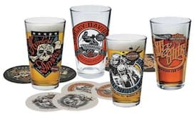 "HDL-18778 - Harley ""Free Wheeling"" Pint Glass Set"