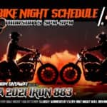 2021 Bike Night Schedule