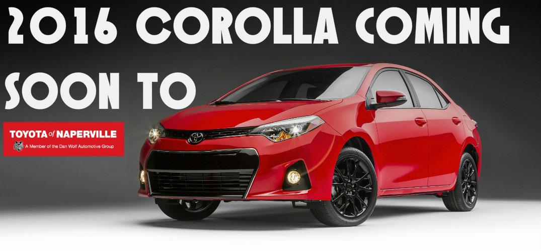 2015 Toyota Corolla vs 2016 Toyota Corolla