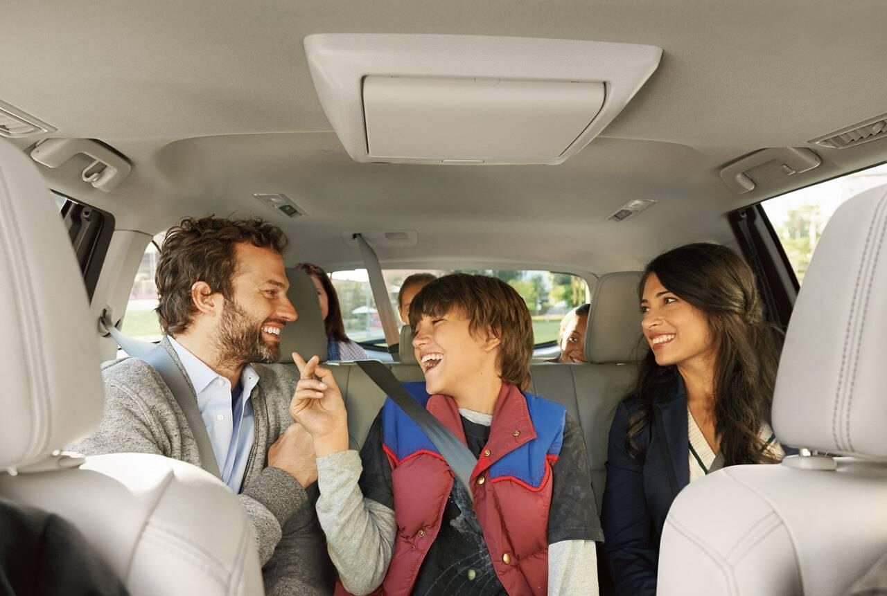 Family in Toyota Highlander Hybrid