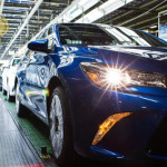 Toyota Camry off the line in Kentucky factory