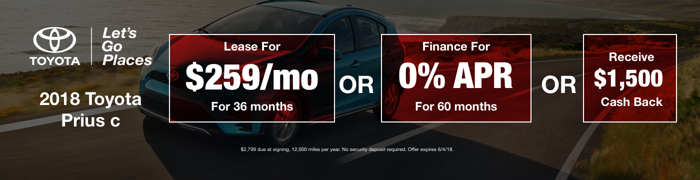Prius CMay 2018 Offer