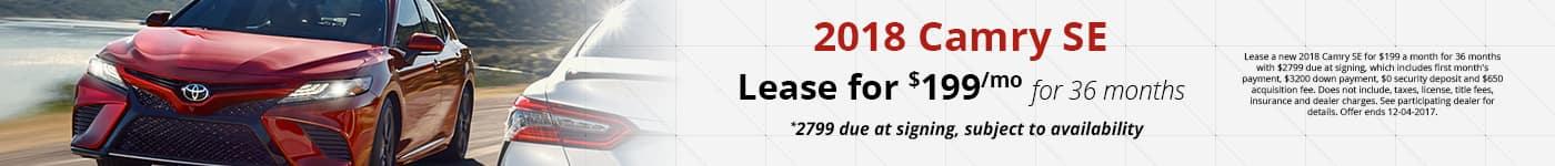 2018 Camry SE November Offer Toyota of Naperville
