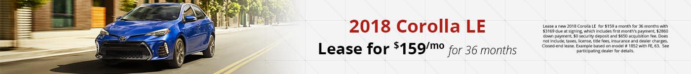 Corolla Feb Lease Offer
