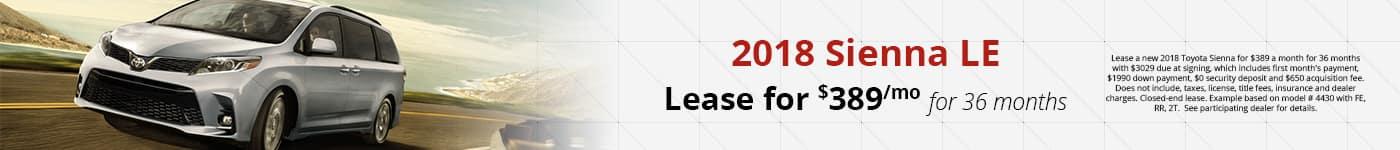 Sienna Feb Lease Offer