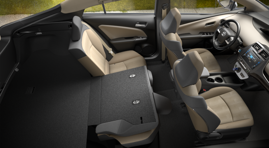 2017 Toyota Prius One Seats
