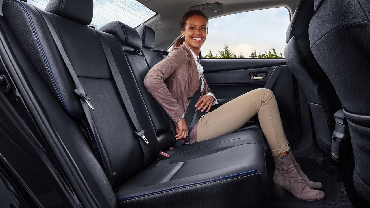 2018 Toyota Corolla rear passenger space