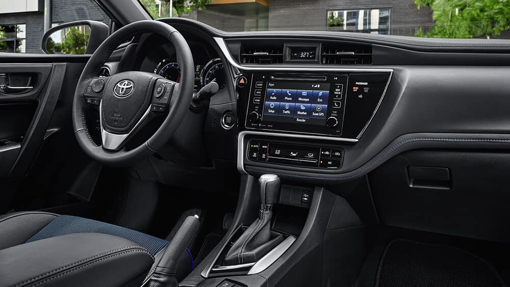 2018 toyota corolla interior toyota of naperville. Black Bedroom Furniture Sets. Home Design Ideas