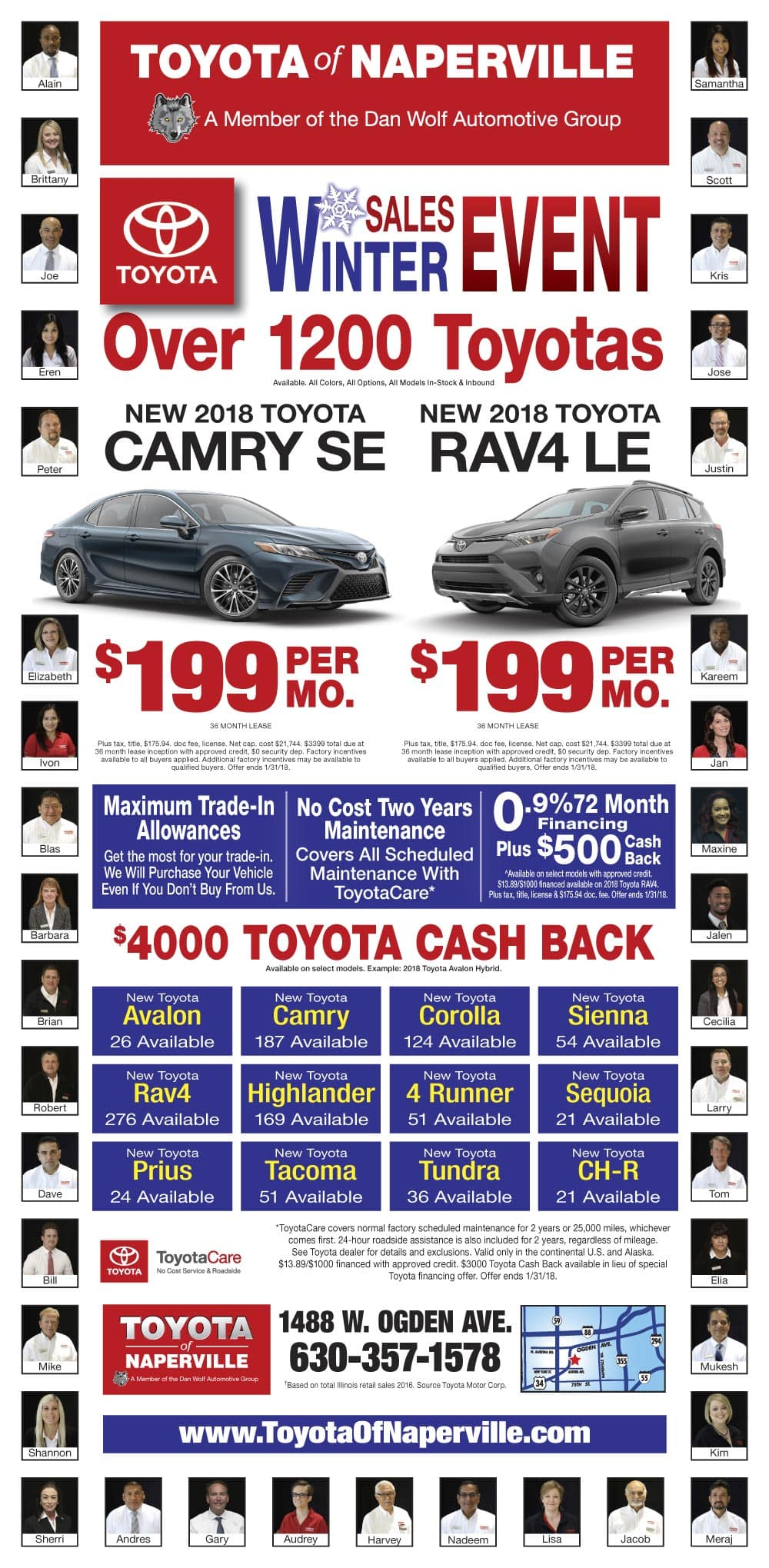 Toyota of Naperville Weekly Ad