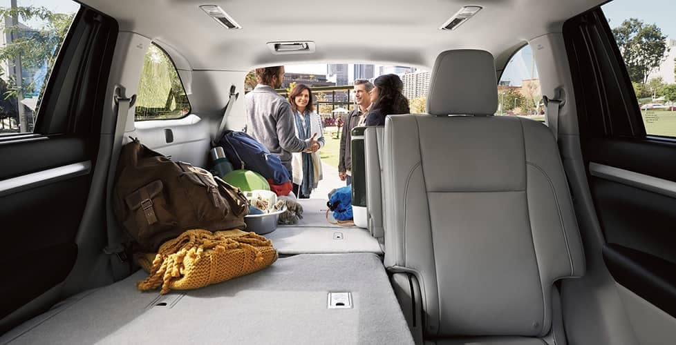 2018 Toyota Highlander Folded Seat