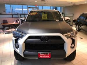 2016 Black and White Toyota 4Runner Toyota of Naperville front