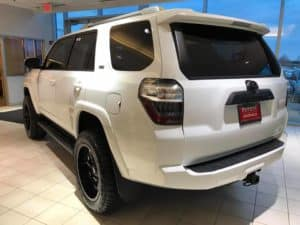 2016 Black and White Toyota 4Runner Toyota of Naperville rear side