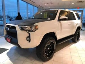 2016 Black and White Toyota 4Runner Toyota of Naperville side front