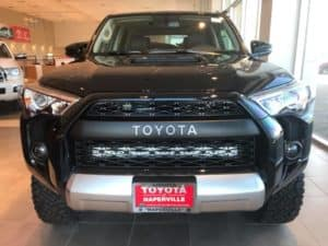 Black Toyota Custom Vehicle Toyota of Naperville Front