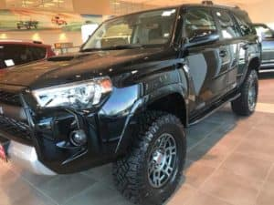 Black Toyota Custom Vehicle Toyota of Naperville Side