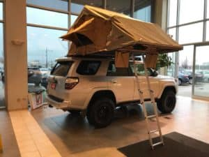 Custom Toyota 4 Runner Tent Toyota of Naperville Side