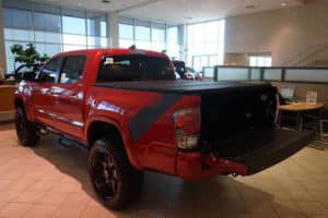 Red Toyota Truck Custom Toyota of Naperville bed