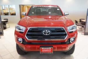 Red Toyota Truck Toyota of Naperville Dealership