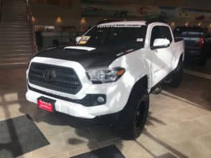 Toyota Tacoma White Custom Toyota of Naperville Front Side