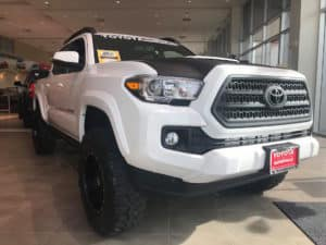 Toyota Tacoma White Custom Toyota of Naperville Grill