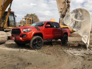 Toyota of Naperville Red Custome Tacoma