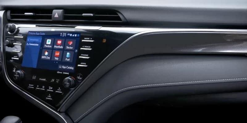 2018 Toyota Camry Entune closeup