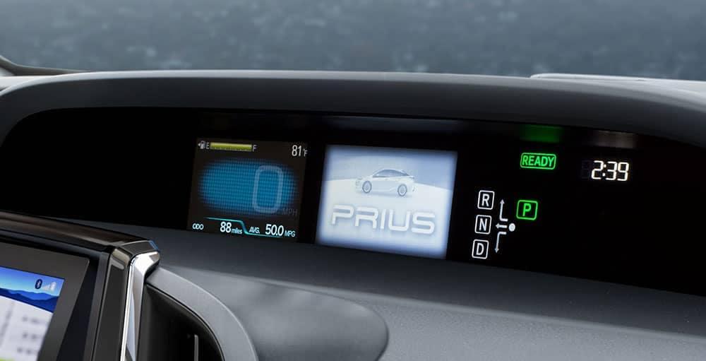 2018 Toyota Prius dash information