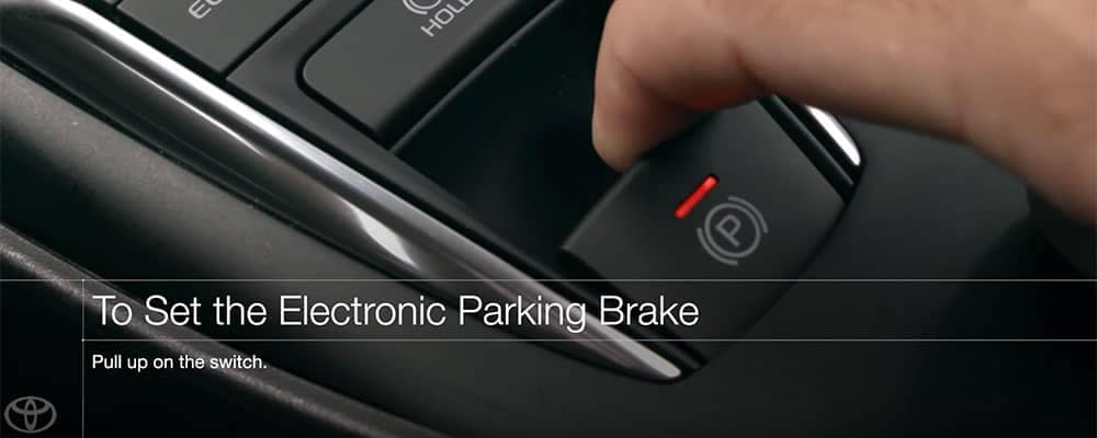 Toyota Camry How to Set the Electronic Parking Brake