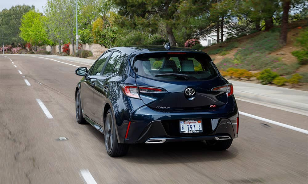 2019 Toyota Corolla Hatchback Rear Driving Toyota Of Naperville