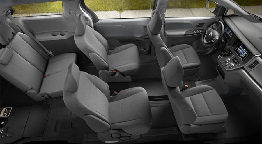 2018 Toyota Sienna L Interior Top View