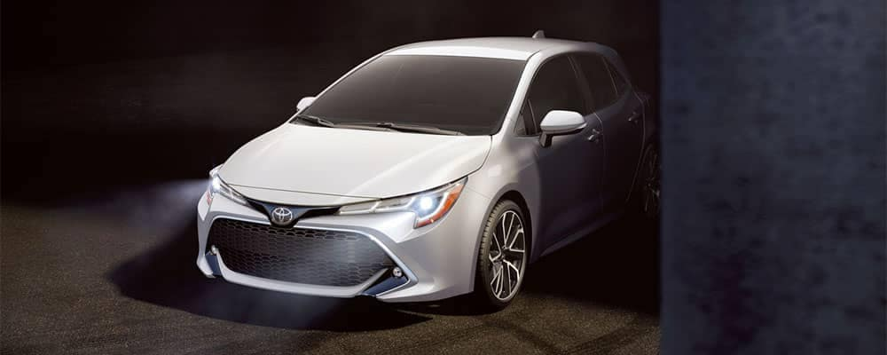 2019 Toyota Corolla Hatchback Peeking Out