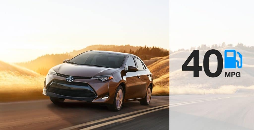 2019 Toyota Corolla LE Eco shown in Falcon Gray Metallic with available Premium Package