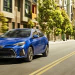2019 Toyota Corolla SE Premium Package driving in streets