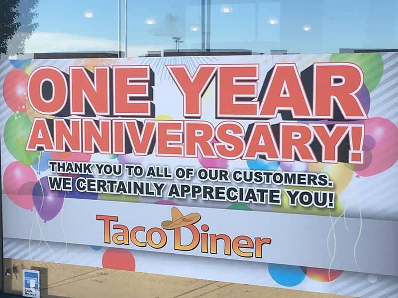 Taco Diner One Year Anniversary